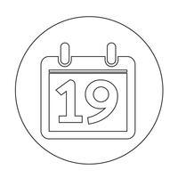 Segno dell'icona del calendario