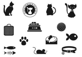 pacchetto di icone vettoriali di gatto