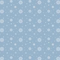 Modello di fiocchi di neve blu. Modello bianco dei fiocchi di neve su fondo blu