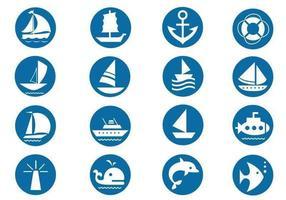 Pacchetto di simboli di vettore nautico