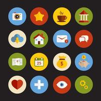 Set di icone piane universali vettore