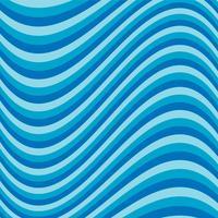 Striscia blu ondulata vettore
