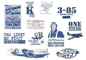 Pacchetto di vettore aviazione d'epoca