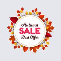 Cornice di vendita foglie d'autunno