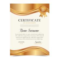 Modello di certificato con design di lusso e moderno, modello di diploma