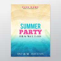 Manifesto del partito tropicale di estate Manifesto del partito tropicale estate vettore