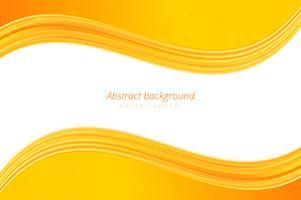 Priorità bassa gialla dell'onda con spazio bianco per testo
