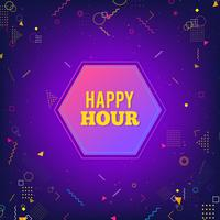Happy hour viola moderno sfondo vettore