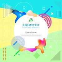 Elementi geometrici astratti memphis alla moda. Poster design moderno, copertina, carta