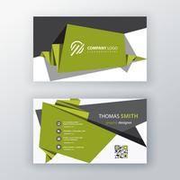 progettazione di biglietti da visita origami verde