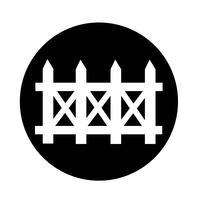 icona di recinzione vettore
