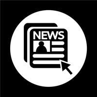 icona del giornale vettore