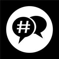 Hashtag icona social media