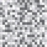 Progettazione astratta del fondo del pixel del modello dei quadrati bianchi e grigi vettore