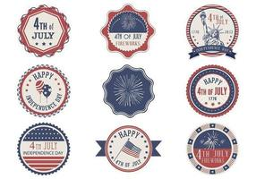 Retro 4th of July Label Vector Pack