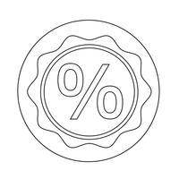 Icona di vendita bonus vettore