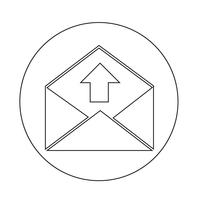 icona della busta della posta elettronica