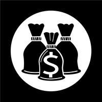 Icona della borsa di denaro vettore