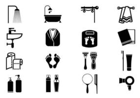 Pacchetto di simboli vettoriali di cura personale