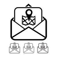 vettore dell'icona di posta elettronica e posta elettronica