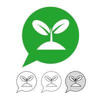 Vettore dell'albero dell'icona della pianta