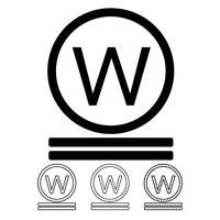 lavanderia icona simbolo vettoriale