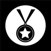 icona della medaglia vettore