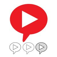 icona del lettore video pulsante vettore