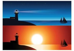 Lighthouse Wallpaper Vector Pack