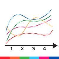 Icona del grafico di dati aziendali vettore