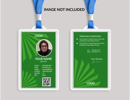 Green Awesome modello di carta d'identità vettore