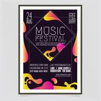 Modello di manifesto di vettore Music Festival