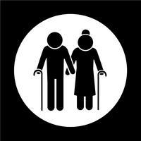 icona di persone anziane vettore