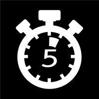 Segno dell'icona del cronometro vettore
