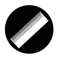 Segno dell'icona del righello vettore