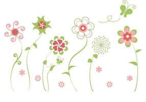 Pacchetto di fiori astratti vettoriale