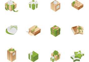 Confezione regalo scatola vettoriale