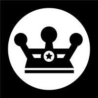 Segno dell'icona della corona vettore