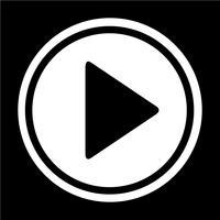Icona del pulsante Play vettore
