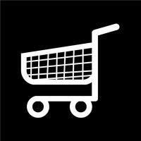 icona carrello carrello dello shopping vettore