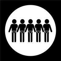Icona della gente del vestito di nuoto vettore