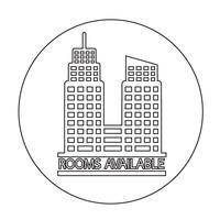 Icona di stanza disponibile vettore