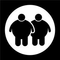 Icona di persone grasse