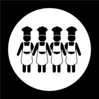 Icona della gente del cuoco unico