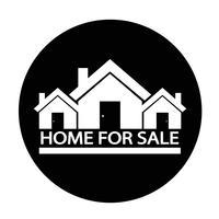 Icona di casa in vendita vettore