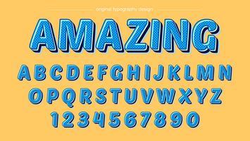 Tipografia dei cartoni animati blu