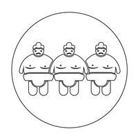 icona della gente di wrestling di sumo