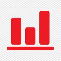 Illustrazione semplice di vettore dell'icona del grafico del diagramma