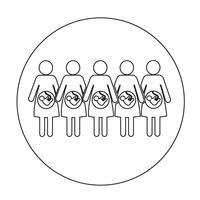 Icona della donna incinta vettore