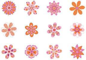 Confezione di motivi floreali vettoriali
